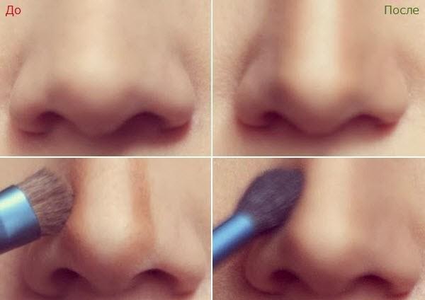 Как зрительно сделать нос тоньше