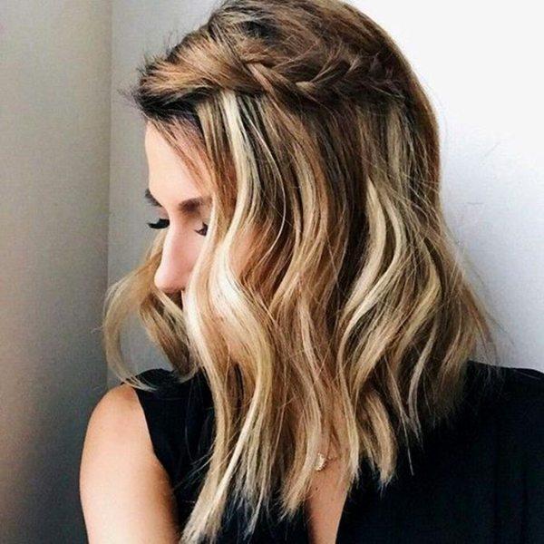 Как сделать красивую прическу из волос длиной до плеч