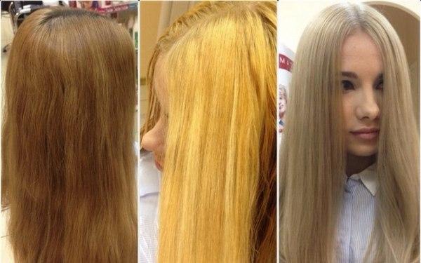 Как избавиться от желтизны после окрашивания в блонд