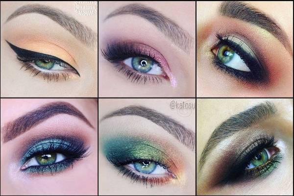 Какие оттенки теней идеально подходят для зеленых глаз