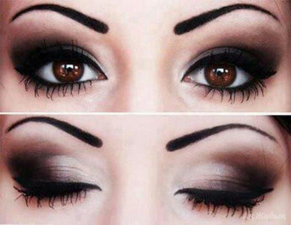 Какие оттенки теней идеально подходят для карих глаз