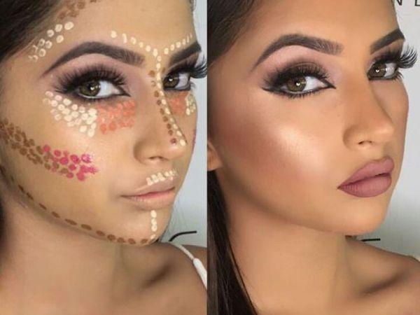 Как макияж поможет оттенить лицо и сделать ее более худым