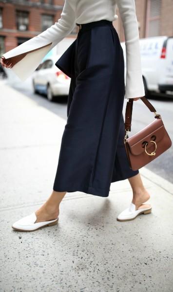 С какой обувью лучше носить кюлоты