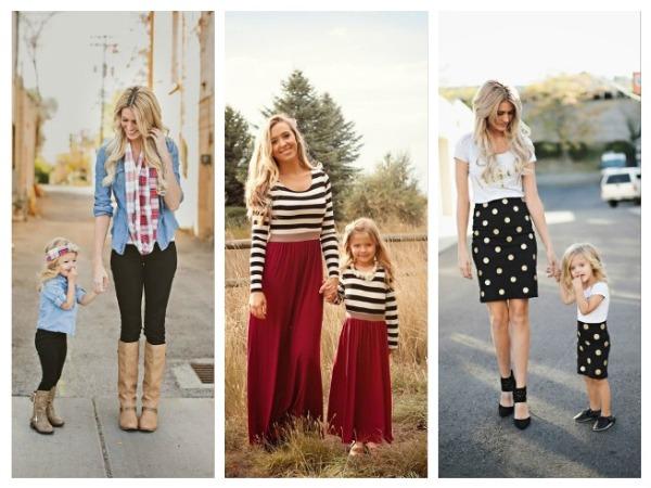 Как маме и дочке одеться в стиле FamilyLook на торжество или фотосессию