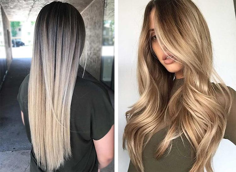 Какому типу лица подойдет балаяж на волосы средней длины