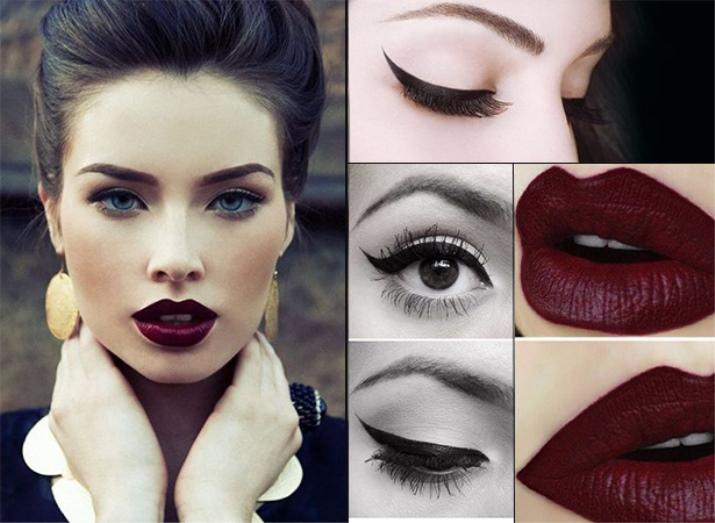 Как не испортить макияж с очень темной помадой: 5 самых частых ошибок