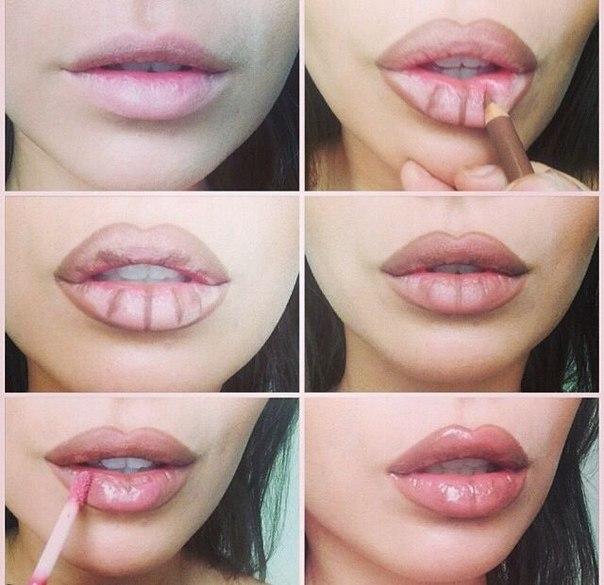 10 хитростей визажистов для макияжа тонких губ