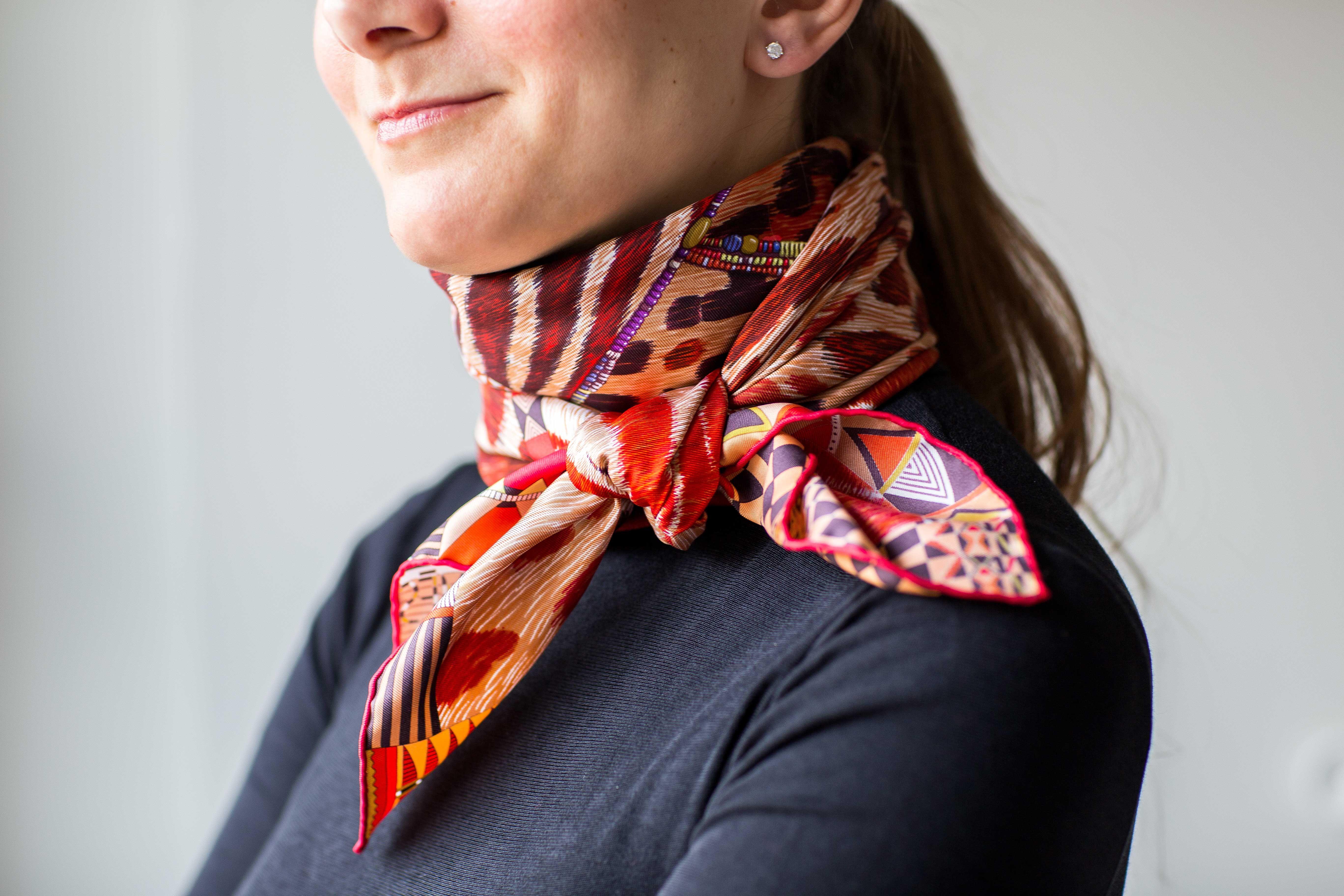 Как красиво завязать платок на шею самостоятельно