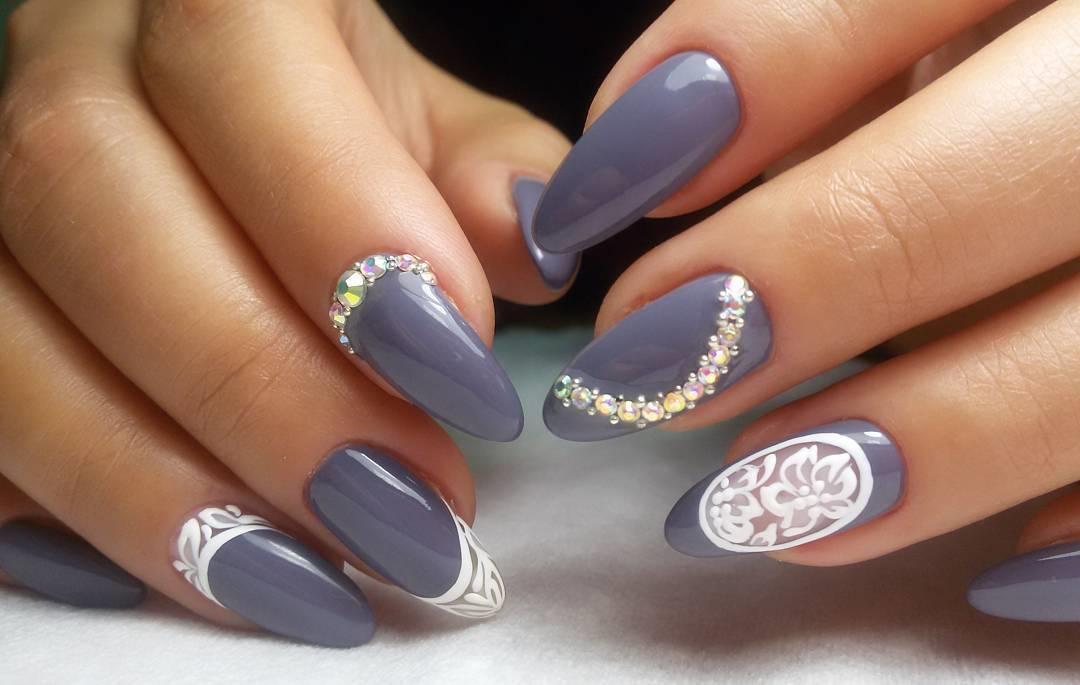 Как сделать красивый маникюр на овальные ногти