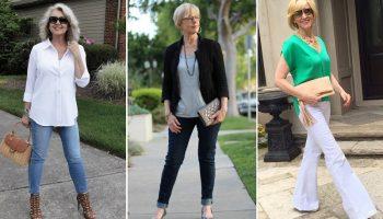 Как, какие и с чем носить джинсы женщине после 50 лет