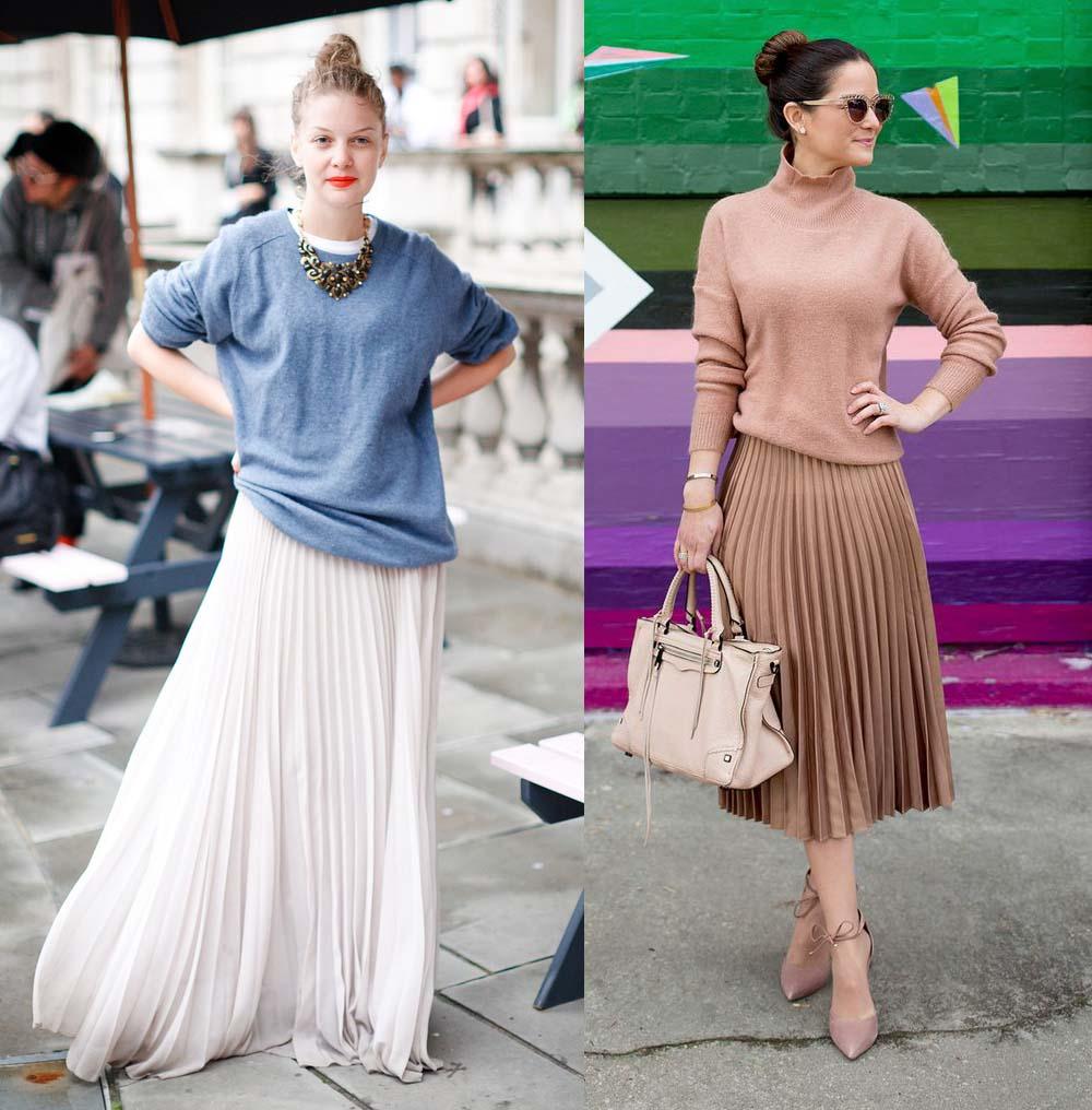 7 стильных способов носить плиссированную юбку этой весной