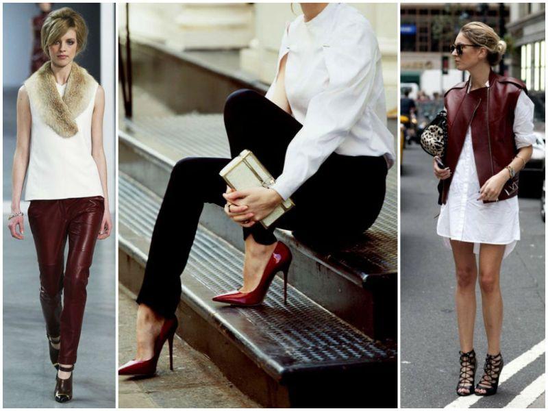 Как правильно сочетать бордовый цвет в одежде