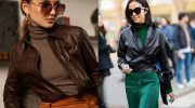 9 стильных образов с рубашкой из эко-кожи на каждый день