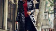 Как правильно носить одежду из кожи этой зимой