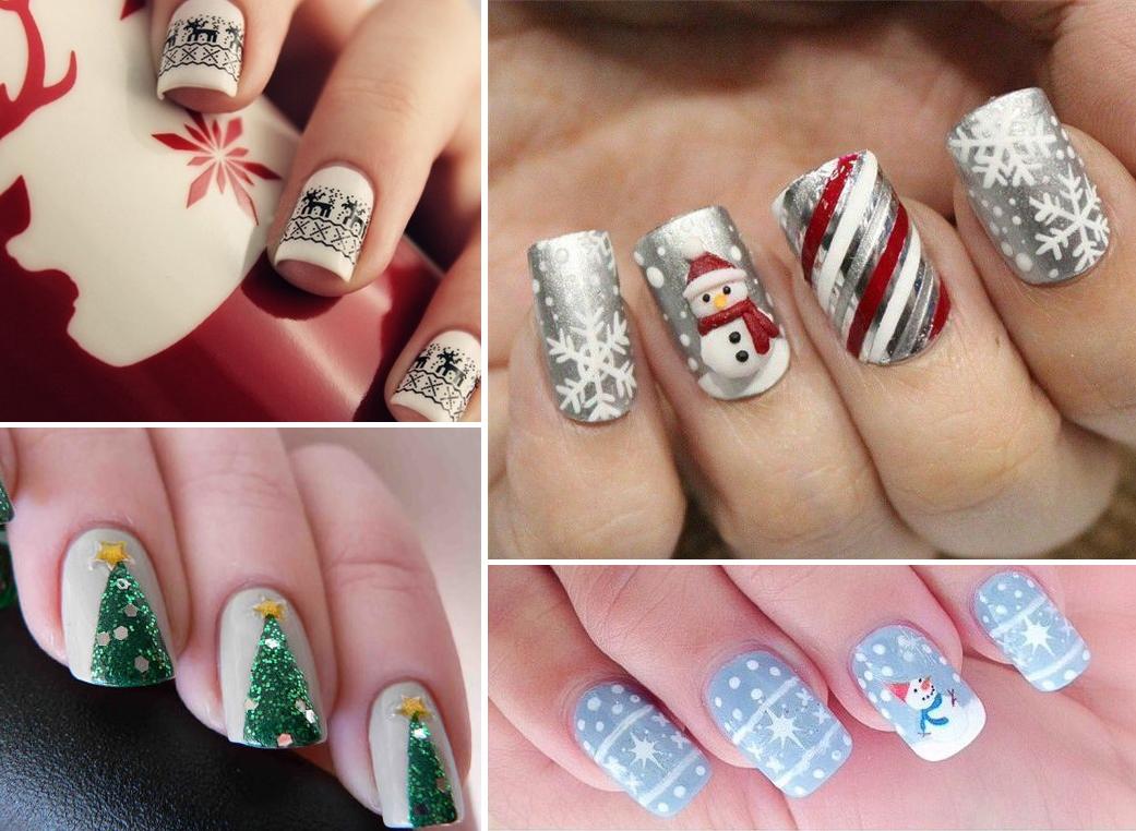 15 идей новогоднего маникюра на длинные ногти